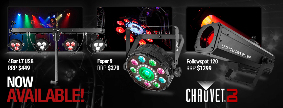 Chauvet DJ has released another batch of NEW products with the latest 4-Bar LT, FXpar 9 and the Followspot 120ST
