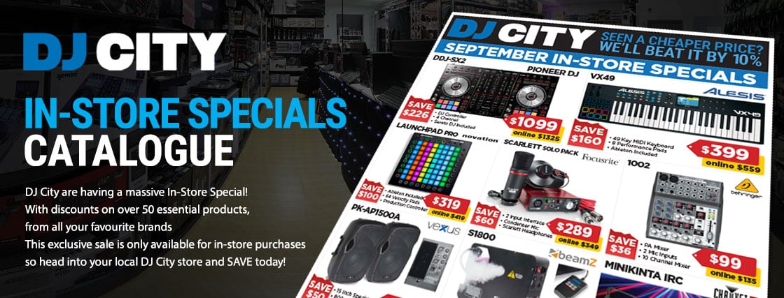 DJ City has over 50 products we have hand picked to give you them best deal possible when you come into our store
