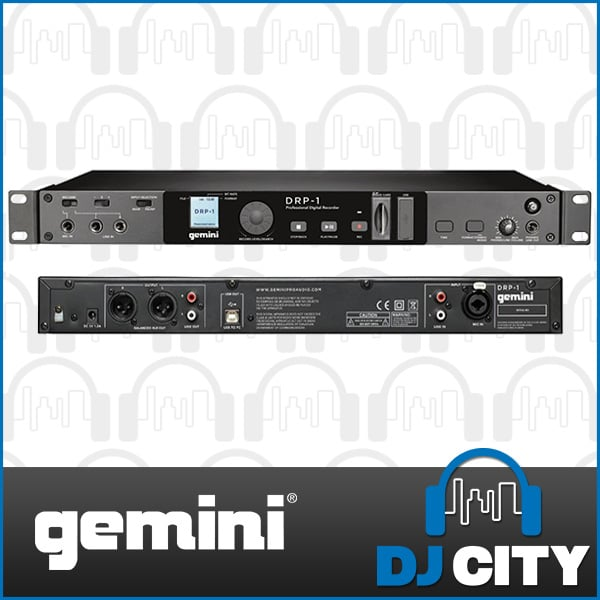 drp rackmount mount image input dj included recorder detailed htm gemini digital rack adapter pro ac usb