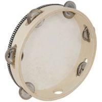 173722 Tambourine Wooden 15CM 6-Inch Musical Instrument