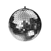 "LMB2 AVE 2"" Mirror Ball Front View"