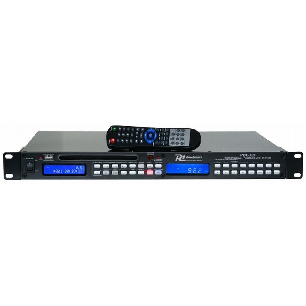 power dynamics pdc 60 cd usb player with tuner dj city. Black Bedroom Furniture Sets. Home Design Ideas