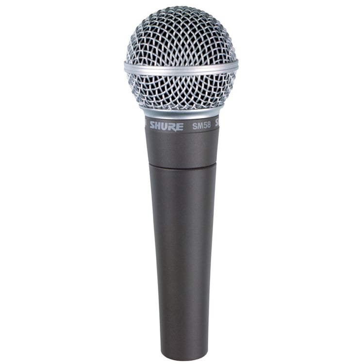 Shure SM58 Vocal Dynamic Microphone display