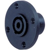 SP34-4R Speakon Panel MNT 4-POLE Round BLK