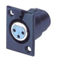 X34-3B Xlr (F) Pannel Mnt Socket Blk