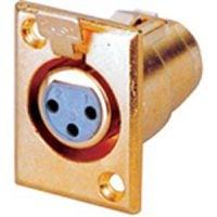 X34-3G Xlr (F) Pannel Mnt Socket Gld