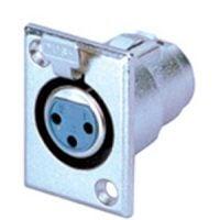X34-3N Xlr (F) Pannel Mnt Socket Sil
