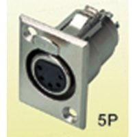 X34-5N Xlr (F) Pannel Mnt 4-Pin Sil