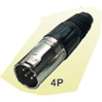 X85-4N Xlr (M) In Line Plug Sil