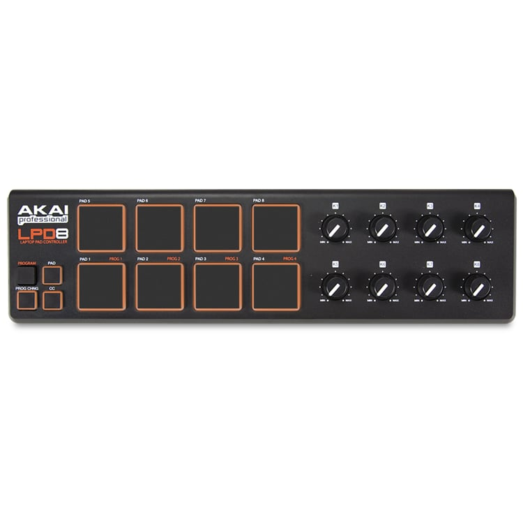 Akai LPD8 Ultra Portable Pad Controller with 8 Pads FV