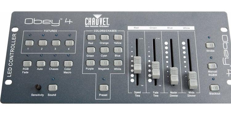 Chauvet Dj Obey 4 Dmx Controller For Led Slimpars Dj City