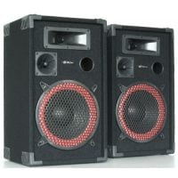 "XEN3508 Skytec 8"" Passive Speaker Pair Front Angle View"