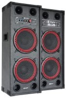 SPB-210 Skytec Active Speaker Set powered 2 x 10 Inch 600Watt  Dual Front View