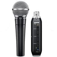SM58-X2U Shure USB Digital Microphone Bundle Display