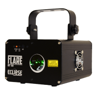 eclipse flare red green yellow laser light full