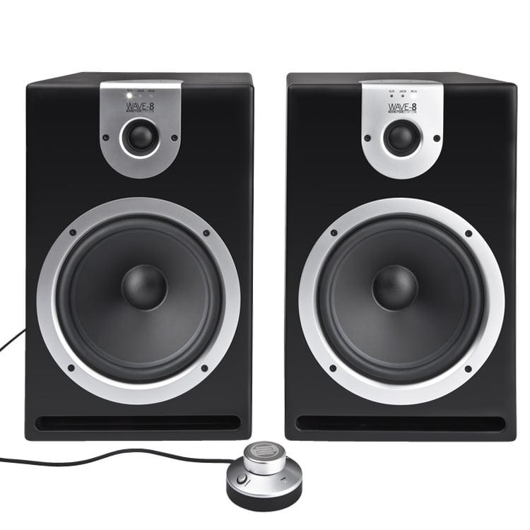 reloop wave 8 studio monitor speaker pair 8 inch dj city. Black Bedroom Furniture Sets. Home Design Ideas
