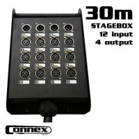 Connex MULTICORE-1630 with Stagebox 12in - 4out 30m