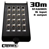 Connex MULTICORE-2030 with Stagebox 16in - 4out 30m