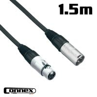 Connex XMXF-1 XLR male - XLR female 1.5m PRO