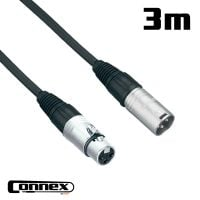 Connex XMXF-3 XLR male - XLR female 3m PRO