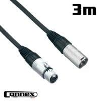 Connex XMXF-3 XLR male - XLR female 3m PRO