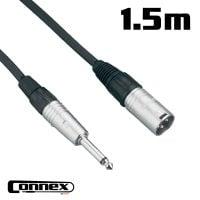 Connex XMJM-1 XLR male - JACK male 1.5m UNBALANCED