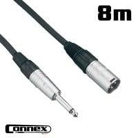 Connex XMJM-8 XLR male - JACK male 8m