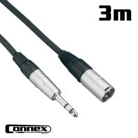 Connex XMJS-3 XLR male - JACK male 3m BALANCED
