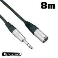 Connex XMJS-8 XLR male - JACK male 8m BALANCED
