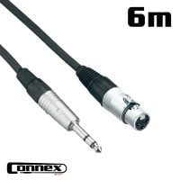 Connex XMJS-6 XLR female - JACK male 6m BALANCED