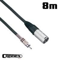 Connex XMRC-8 XLR male - RCA male 8m PRO PA