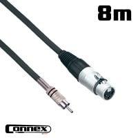 Connex XFRC-8 XLR male - RCA male 8m PRO PA