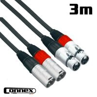 Connex XMXF-3T XLR male - XLR female 3m PRO Twin