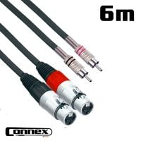 Connex XFRC-6T XLR female - RCA male 6m PRO Twin