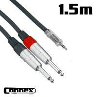 Connex JMJS-1T JACK male - RCA male 1.5m AUX Cable