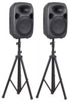 SPS122 Skytec 12-Inch Active Speaker Set Stand Pair View