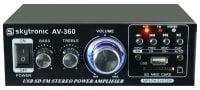 Front View AV-360 Skytronic Home Karaoke Amplifer 2x 40W w/ mp3 Player and Turner