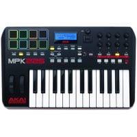Akai MPK 225 Midi Keyboard with MPC Pads Top View