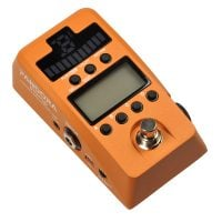 PXSTOR Korg Effect Processor and Tuner Stomp Box - Orange top angle view