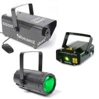 Light Package 3 Beamz LED DJ LED Lighting Effect Pack All Light Display