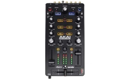 AMX Akai 2-Channel DJ Mixer and Controller for Serato DJ Top Display
