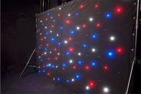 AVE StarDrape LED Curtain_White Blue and Red