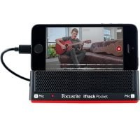 Focusrite iTrack Pocket front with iPhone