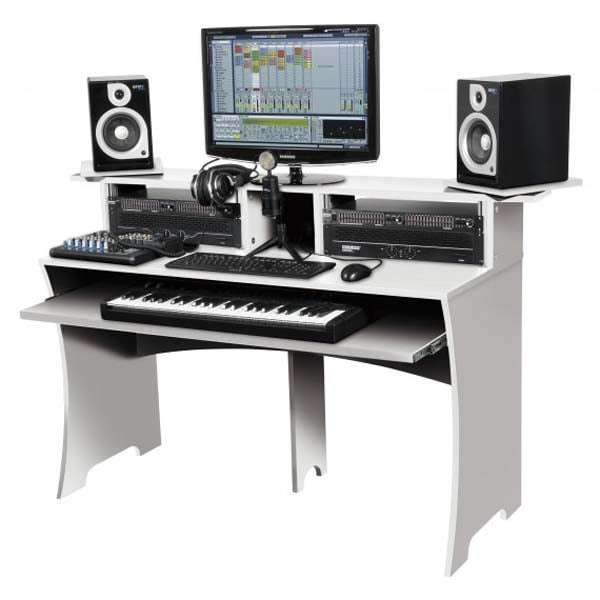 glorious workbench studio workstation white dj city rh djcity com au studio workstation desk plans best studio desk workstation