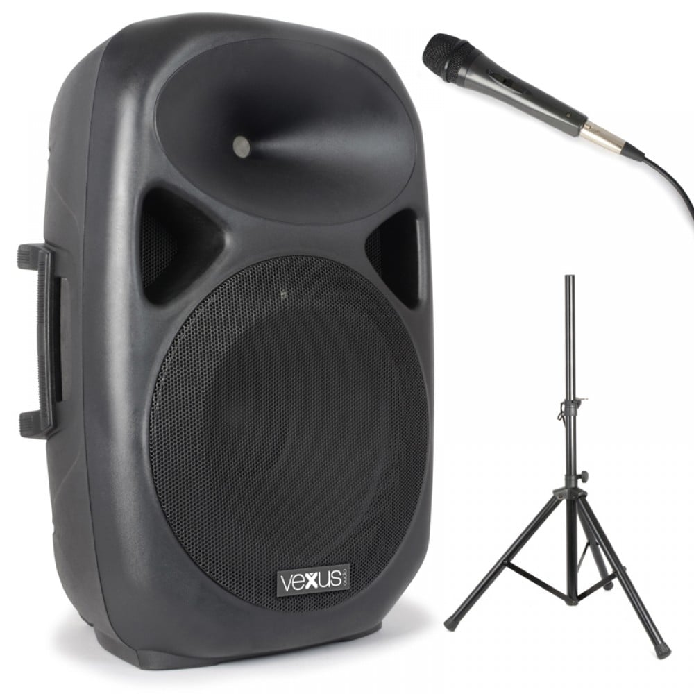 SPS152 Karaoke Vexus 15 Inch Active Speaker w/ Stand ...