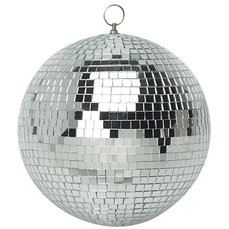 ball mirror balls disco glass led 25cm lighting glitter equinox lights kits effects 5w beam spot inc inch 50cm hire