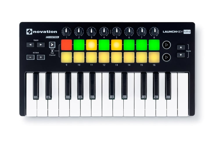Novation Launchkey Mini Mk2 Midi Keyboard 25 Key With Pads