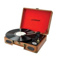 MBeat MB-USBTR118 Vinyl Turntable with USB angle