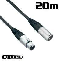 Connex XMXF-20 XLR male - XLR female 20m PRO cable view