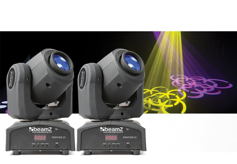Beamz Panther 25 Moving Head Pai